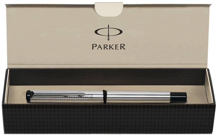 Ручка роллер Parker Premium Shiny SS Chiselled RB 04 022S